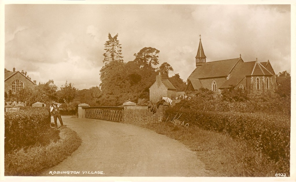 B06 Rodington - Village - Bridge and Church - R.M. & .S., Shrewsbury