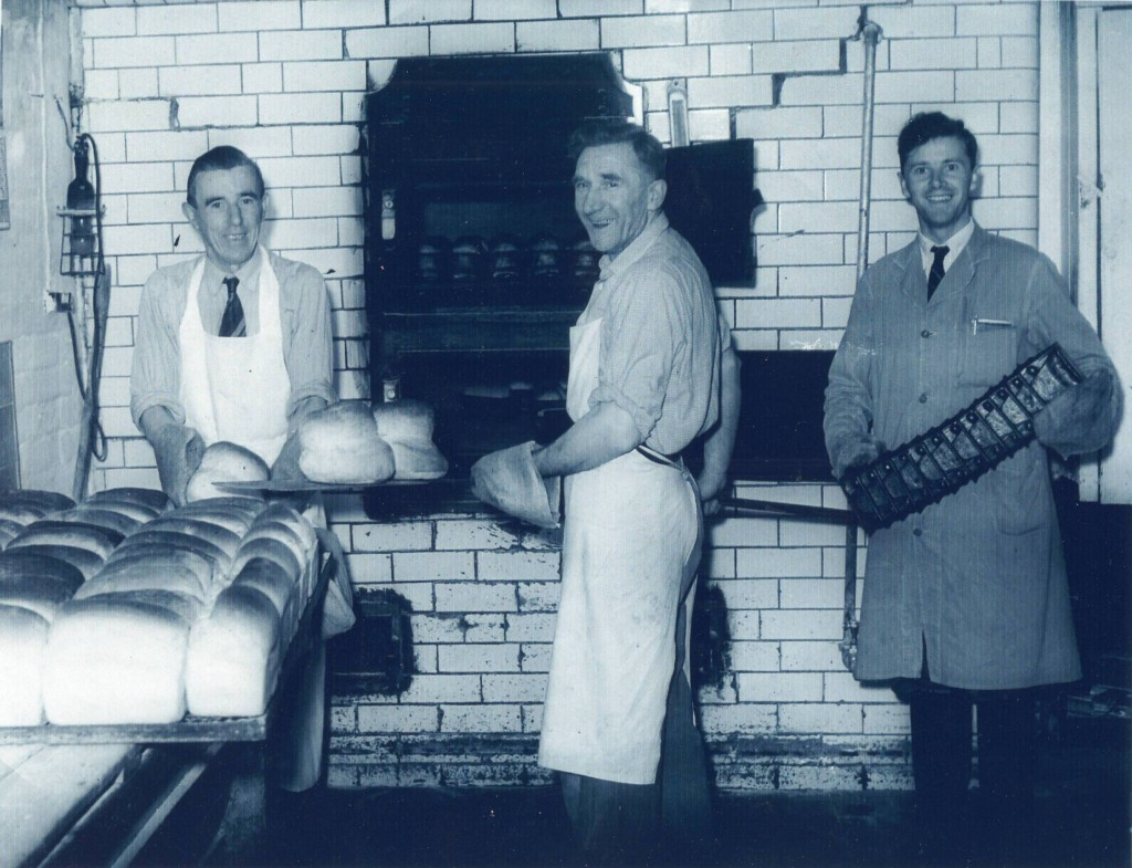 The Old Bakery, Rodington Left to right: Bert Rowson, Tom Painter, Ernest Birch