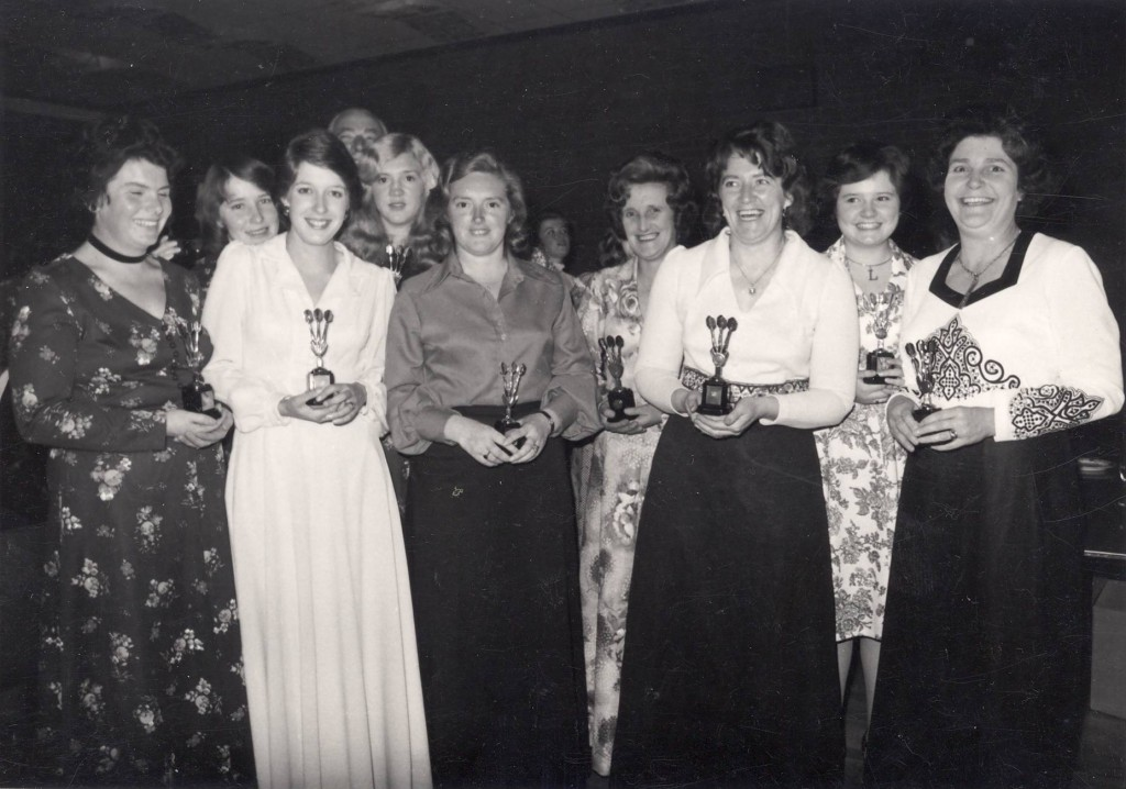 Bulls Head Ladies Darts Team, circa 1969 Front row left to right: Jean Beckett,Val Hughes, Christine Evans, Margaret Tams, Pam Lewis Back row left to right: Ann Davies, Linda Williams, Margaret Davies, Lesley Edwards