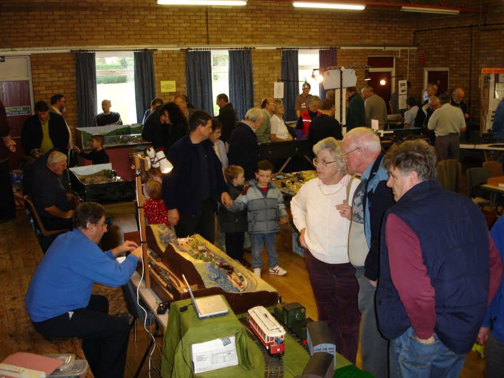 First Model Railway exhibition at the Village Hall in 2005